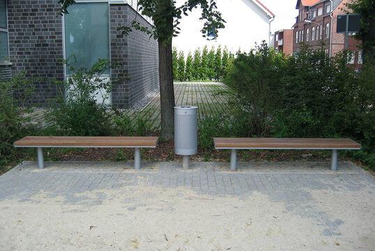 Hockerbank mit Holzauflage Aurich