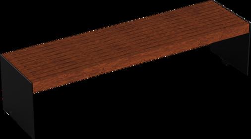 Hockerbank mit Holzauflage Kalmar