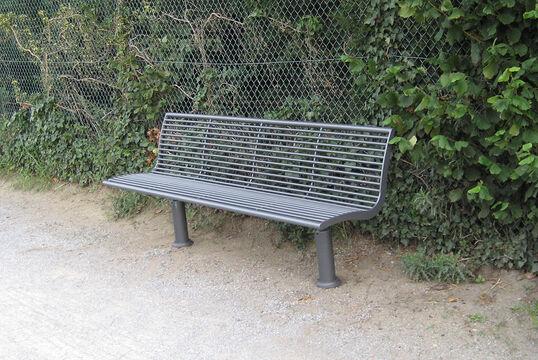 Sitzbank mit Stahlauflage Römö
