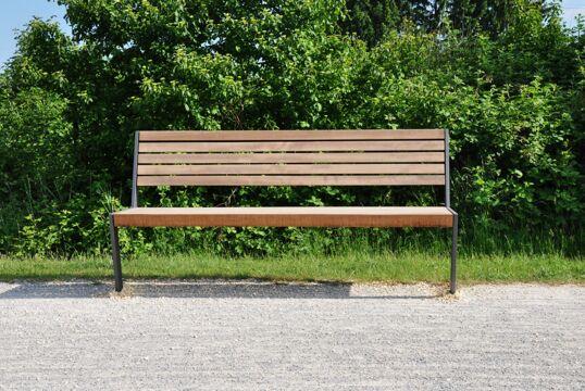 Sitzbank mit Holzauflage Henne SL