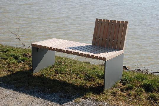 Sitzbank mit Holzauflage Düsseldorf