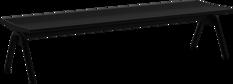 Hockerbänke mit Stahlauflage
