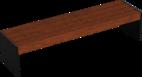 Hockerbank mit Holzauflage Riga