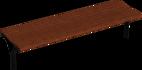 Hockerbank mit Holzauflage Taragona