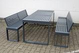 Sitzbank mit Stahlauflage Scape III ST