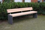 Sitzbank mit Holzauflage Riga