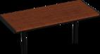 Tisch Aurich mit Holzauflage