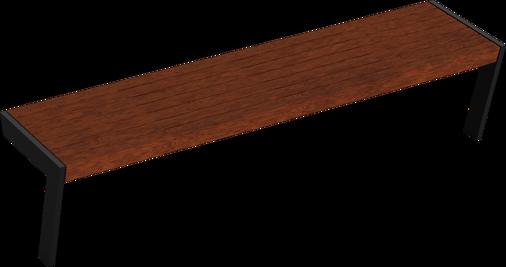 Hockerbank mit Holzauflage Henne SL