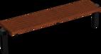 Hockerbank mit Holzauflage Scape I