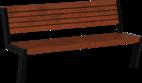 Sitzbank mit Holzauflage Henne