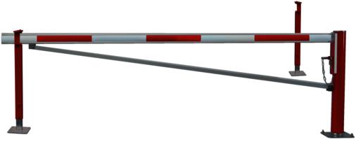Horizontale Drehschranken WES 105 mit Auf- und Ablagestütze