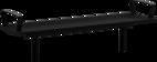 Hockerbank mit Stahlauflage Römö