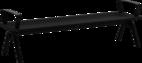 Hockerbank mit Stahlauflage Fanö