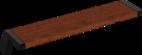 Hockerbank mit Holzauflage Jump