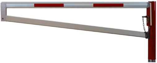 Horizontale Drehschranken WES 145 mit Trapezsperrbalken