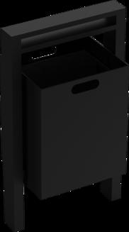 Abfallbehälter Serie 710 eckig