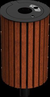 Abfallbehälter Serie 800 Holz