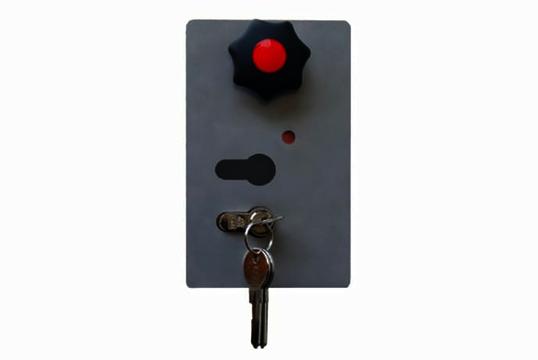 WES 31 Gasdruckfeder Standard Schlagbaum rot/weiß zum Aufdübeln