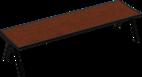 Hockerbank mit Holzauflage Fanö PAG