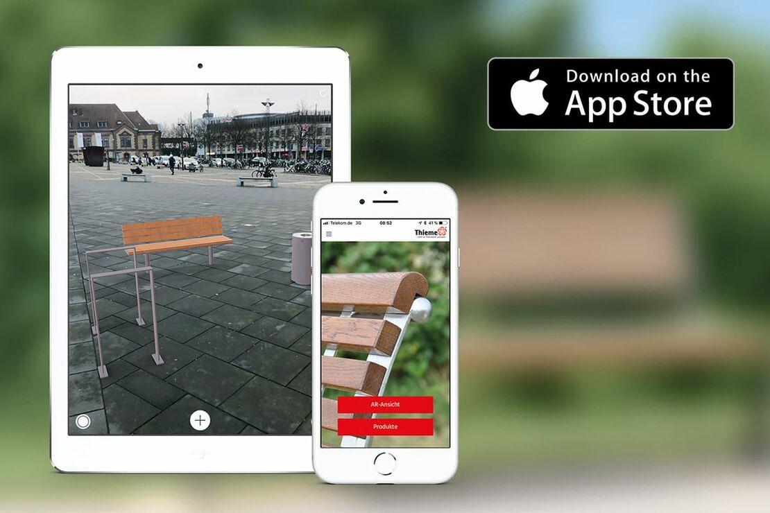 Stadtmöbel planen mit der Thieme AR App