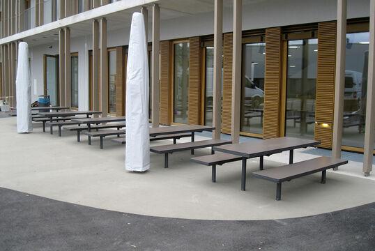 Hockerbank mit Holzauflage Lübeck HPL