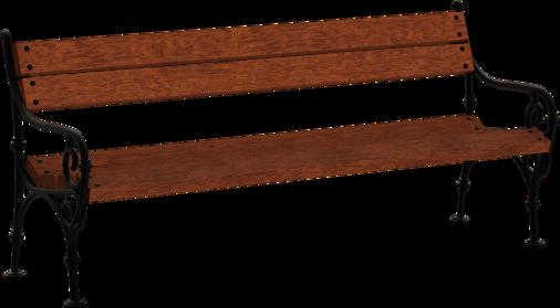 Sitzbank mit Holzauflage Wien