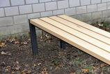 Hockerbank mit Holzauflage Haltern