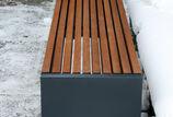 Hockerbank mit Holzauflage Malmö