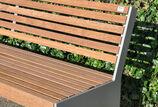 Sitzbank mit Holzauflage Göteborg