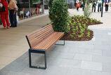 Sitzbank mit Holzauflage Scape III