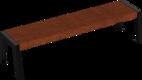 Hockerbank mit Holzauflage Offenburg