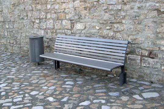 Sitzbank mit Stahlauflage Bremen ST