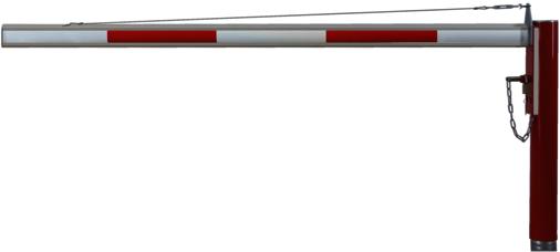 Horizontale Drehschranken WES 125 ohne Auflagestütze