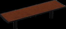 Hockerbänke mit Holzauflage