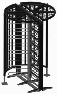 Manuelle Drehkreuze DK 33 extrem stabile Ausführung Ø 178 cm
