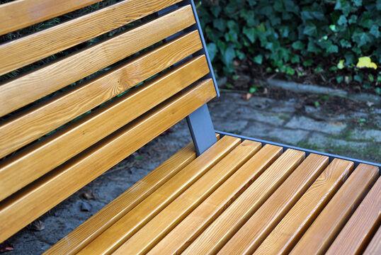 Sitzbank mit Holzauflage Kalmar