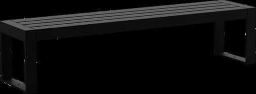 Hockerbank mit Stahlauflage Espo