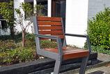 Sitzbank mit Holzauflage Henne Stuhl