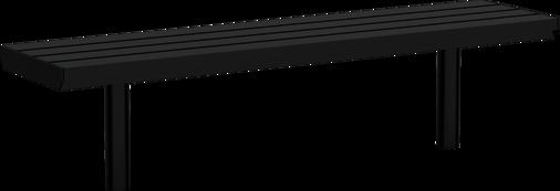 Hockerbank mit Stahlauflage Aurich ST