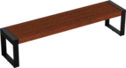 Hockerbank mit Holzauflage Espo