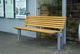 Sitzbank mit Holzauflage Scape I