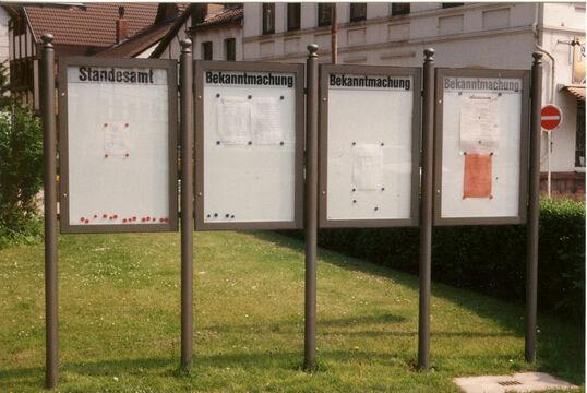 Schaukasten Münster