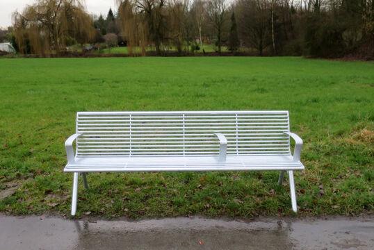 Sitzbank mit Stahlauflage Fanö