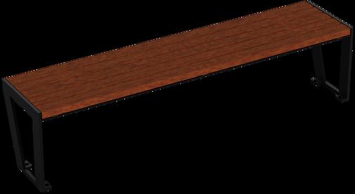Hockerbank mit Holzauflage Legea